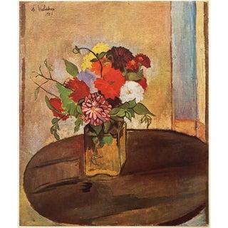 1947 Suzanne Valadon Fleurs Lithograph For Sale