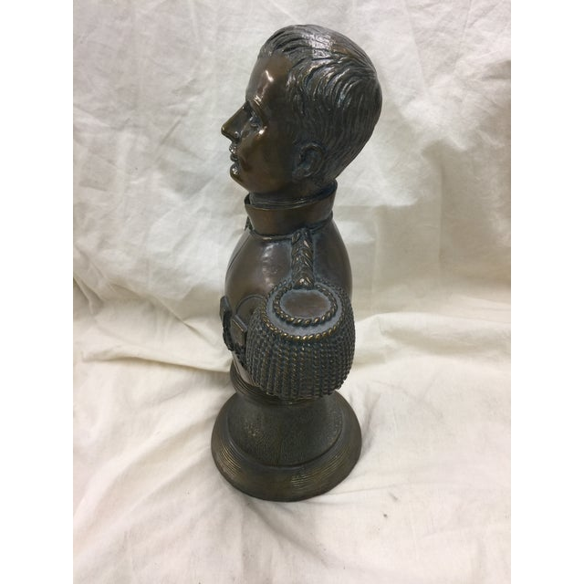 "Maitland Smith Bronze Bust of Napoleon. Excellent condition, like new. This measures 14"" tall x 9"" wide x 5"" deep. Circa..."