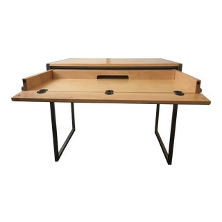 Room & Board Modern Basis Desk Maple Wood & Stainless Steel Desk