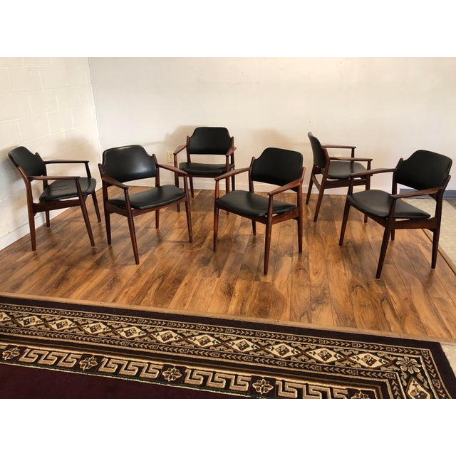 Rosewood Chairs by Arne Vodder for Sibast Furniture, Made in Denmark, Set of 6 For Sale - Image 10 of 13