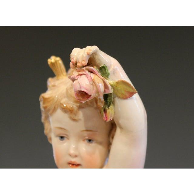 """Ceramic Antique Meissen Allegorical Day Figure Porcelain German Signed 14"""" For Sale - Image 7 of 13"""