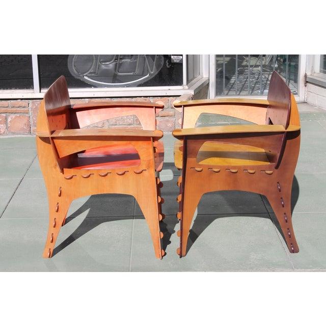 "David Kawecki Pair of David Kawecki ""Puzzle"" Chairs For Sale - Image 4 of 8"