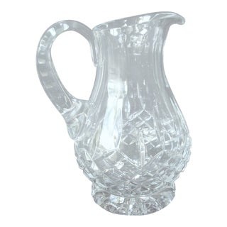 Vintage Footed Clear Pitcher