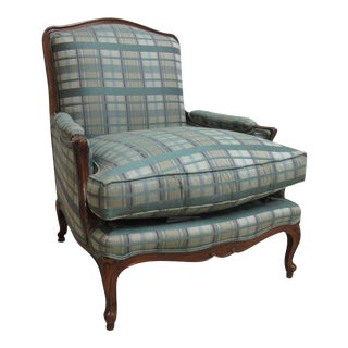 Henredon Country French Carved Schoonbeck Bergere Chair For Sale