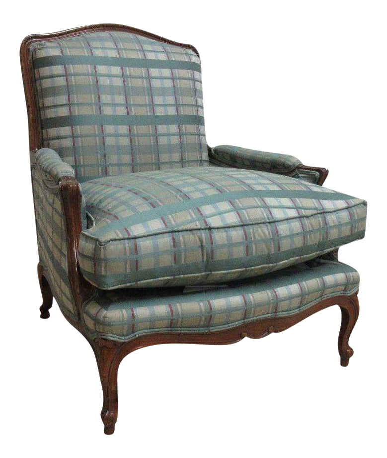 Henredon Country French Carved Schoonbeck Bergere Chair