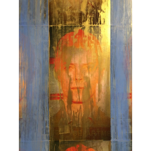 """""""Golden Years"""" Mixed Media Painting by Dan J Leahy For Sale - Image 4 of 7"""