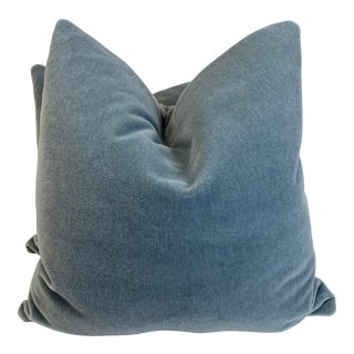 "Bluebell Mohair 22"" Pillows-A Pair For Sale"