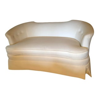 1970s Vintage White Settee For Sale