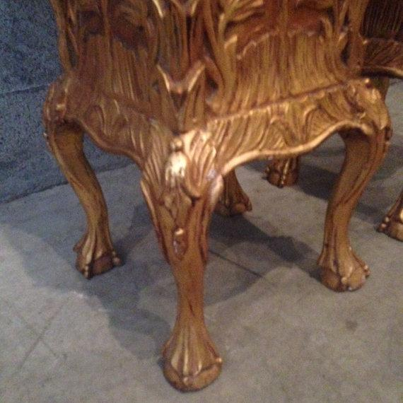 Golf Leaf Chippendale Pillars - A Pair For Sale - Image 4 of 6