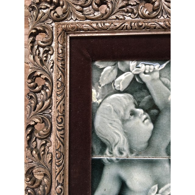 Late 19th Century Late 19th Century Framed Tile Set by Isaac Broome - a Pair For Sale - Image 5 of 12