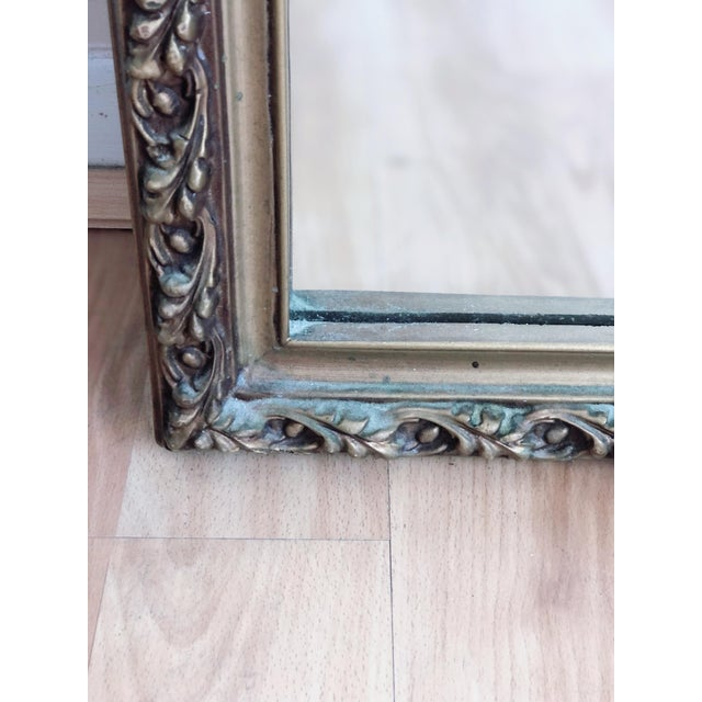 Traditional Gilded, Relief Design, Rectangular Wall Mirror For Sale - Image 3 of 5
