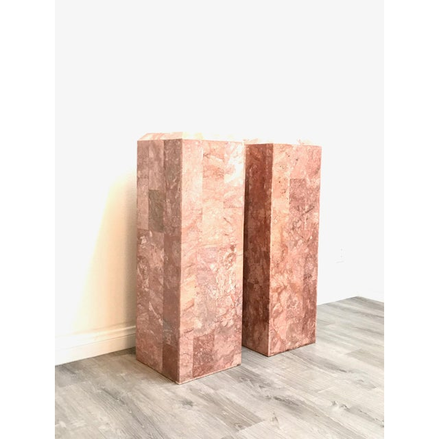 Vintage Tessellated Regency Marble Pedestals - a Pair For Sale - Image 11 of 11