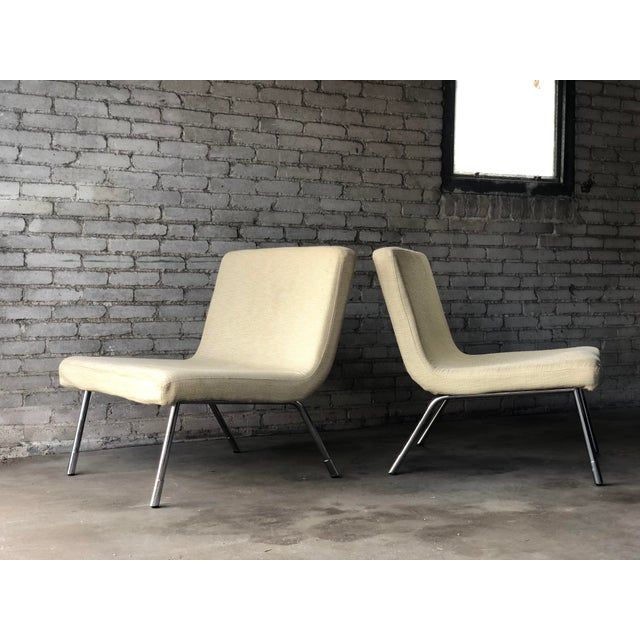 1990s Roche Bobois Chrome Lounge Chairs - a Pair For Sale - Image 13 of 13