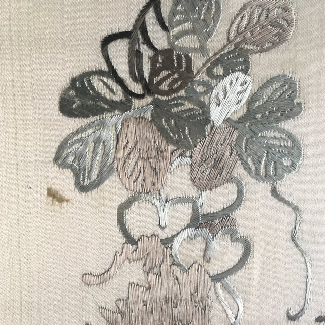 Vintage Framed Chinese Silk Embroidery - Image 6 of 11