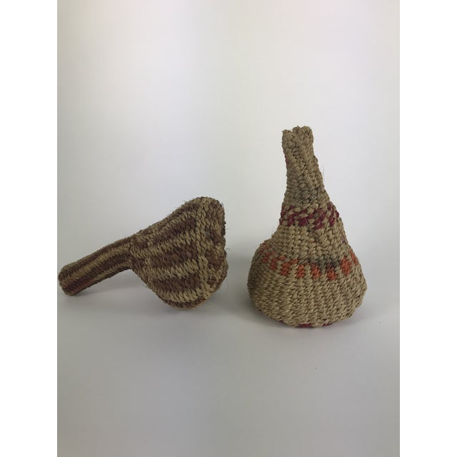 Metal Vintage African Woven Maracas - a Pair For Sale - Image 7 of 7