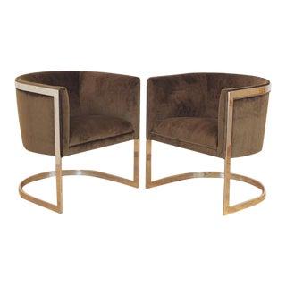 1970s Vintage Metropolitan Barrel Lounge Chairs - a Pair For Sale