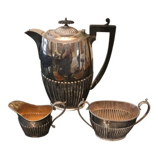 Sheffield Silver Plated Coffee Set of 3 For Sale