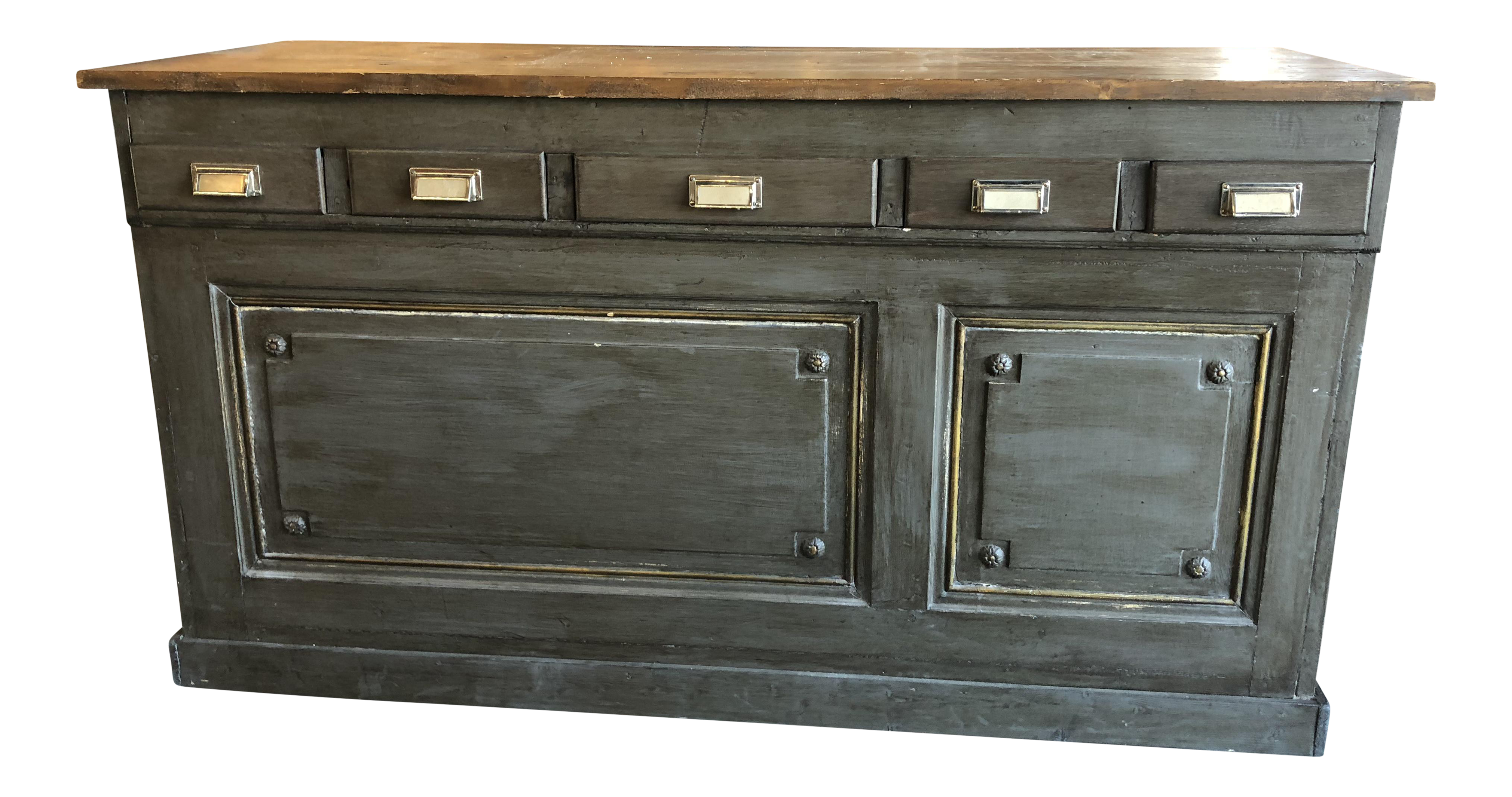 how to paint a kitchen cabinet vintage amp used kitchen islands amp butcherblocks chairish 17172