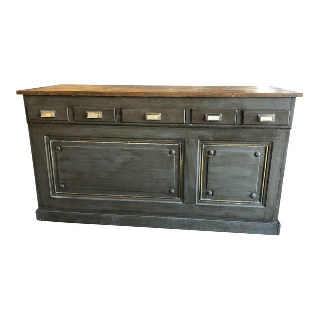 Antique French Storage Counter For Sale