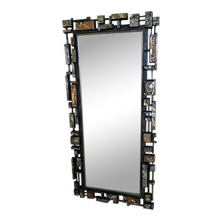 Syroco Brutalist Wall Mirror For Sale