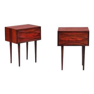 1960s Scandinavian Arne Vodder Rosewood Nightstands - a Pair For Sale