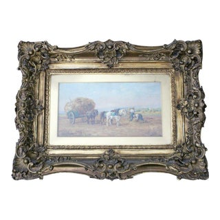 19th Century Wood Framed Oil on Canvas Painting Signed by Eugene Fromentin 1800s For Sale