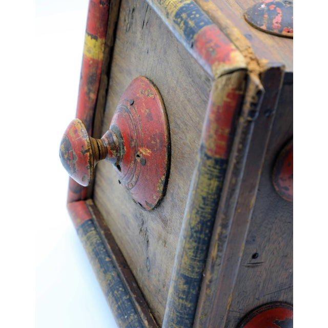 19th Century Antique Afghan Wood Spice Box For Sale - Image 12 of 13