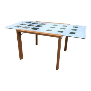 Mid-Century Modern Ligne Roset 'Extensia' Expandable Glass Dining Table For Sale