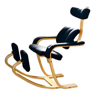 Vintage 1980s Peter Opsvik Duo Balans Gravity Chair for Stokke For Sale