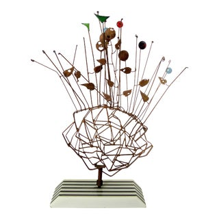 Vintage Mid-Century Wire Sculpture For Sale