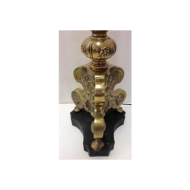 Classic Style Brass Floor Lamp - Image 3 of 7