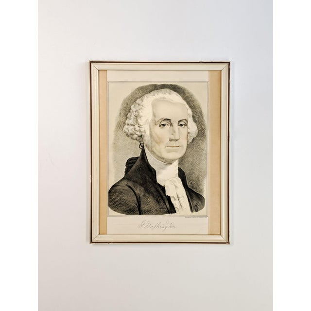 Vintage Portrait Print of George Washington by Currier and Ives For Sale In New York - Image 6 of 6