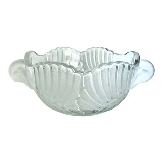 Vintage Mikasa Double Swan Crystal Bowl For Sale
