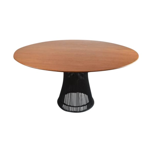 Warren Platner for Knoll Bronze and Teak Table - Image 1 of 8