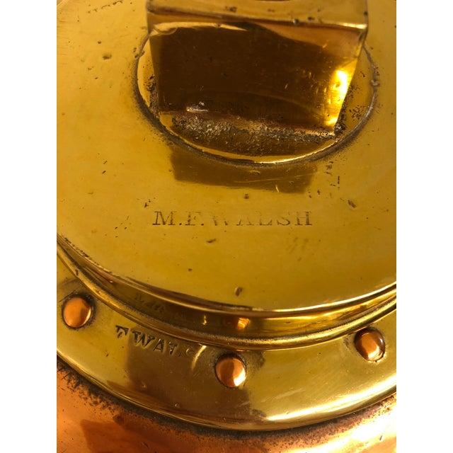 Brass & Copper Nautical Water Vessel For Sale In Dallas - Image 6 of 8