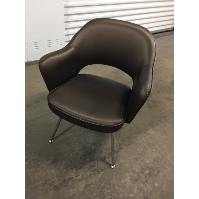 Knoll 1975 Knoll Saarinen Executive Dining or Office Chairs - Set of 6 For Sale - Image 4 of 12