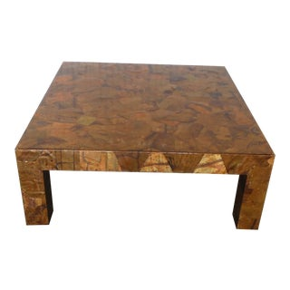 1970s Brutalist Copper Patchwork Coffee Table For Sale