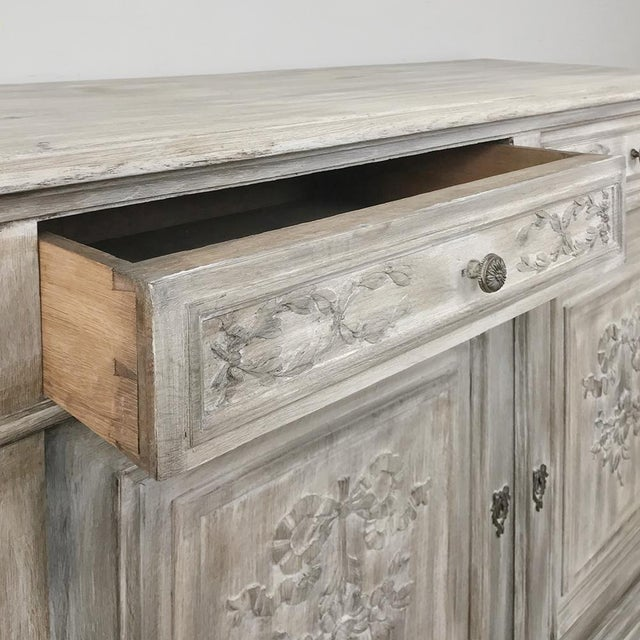 19th Century Country French Louis XVI Whitewashed Buffet For Sale In Dallas - Image 6 of 13