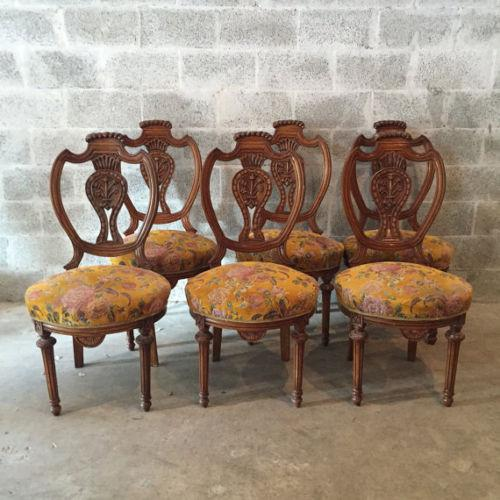 This amazing old chairs are suitable for every dining room. They are made in Louis XVI style dating back between...