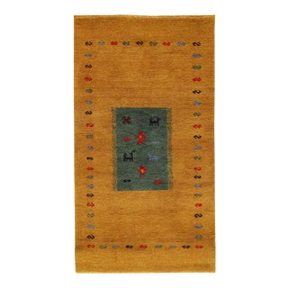 Pasargad Hand Knotted Gabbeh Rug- 3′ × 5′5″ For Sale