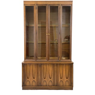 Vintage Broyhill Brasilia Mid Century Modern China Cabinet For Sale