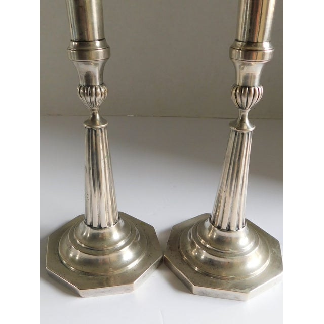 This stunning pair of vintage sterling candleholders is so rare in today's marketplace! Its beautiful classic lines and...