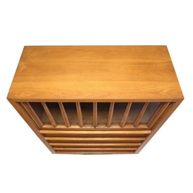 Large Robsjohn-Gibbings Dresser Secretary w Bookcase For Sale In New York - Image 6 of 9