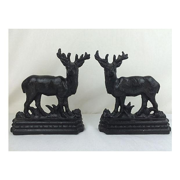 English Cast Iron Stags - A Pair - Image 2 of 3