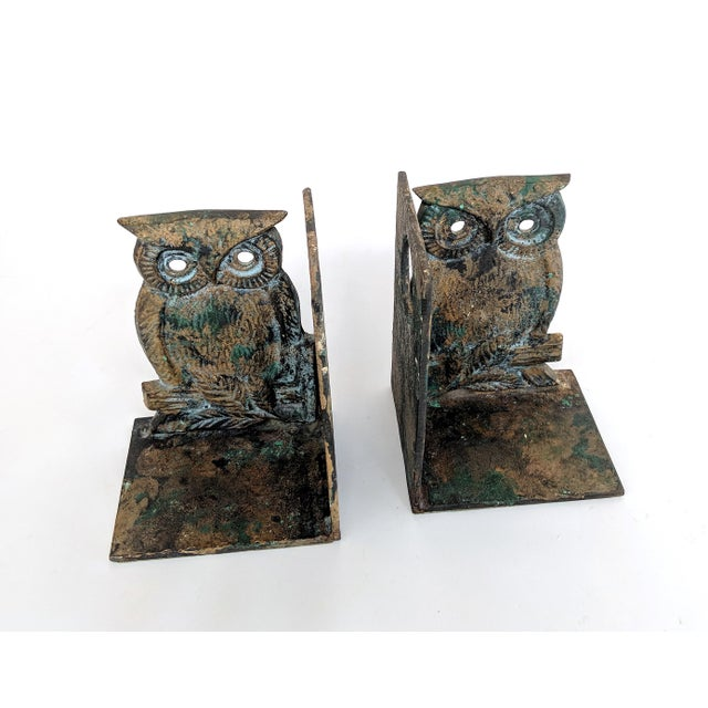 Vintage Metal Owl Bookends - A Pair - Image 8 of 9