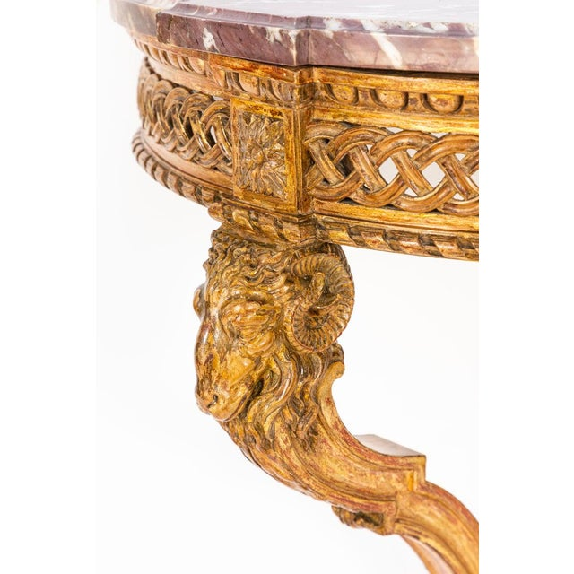 Wood 19th Century French Giltwood Wall Mounted Console For Sale - Image 7 of 11