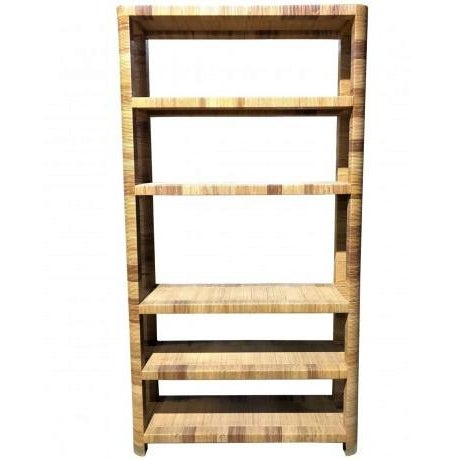 1980s Boho Chic Bielecky Brothers Woven Bookshelf For Sale - Image 11 of 11