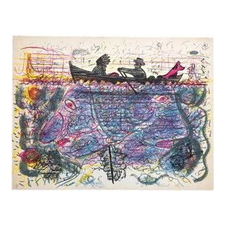 """""""Roy De Forest"""" 1976 Lithograph Print"""