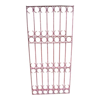 Antique Victorian Pink Iron Gate or Garden Fence For Sale
