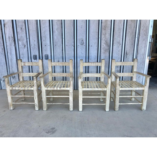 Guillerme Chambron's style Hand carved wood arm chairs by Kreiss. Price includes also custom made sitting pillows.